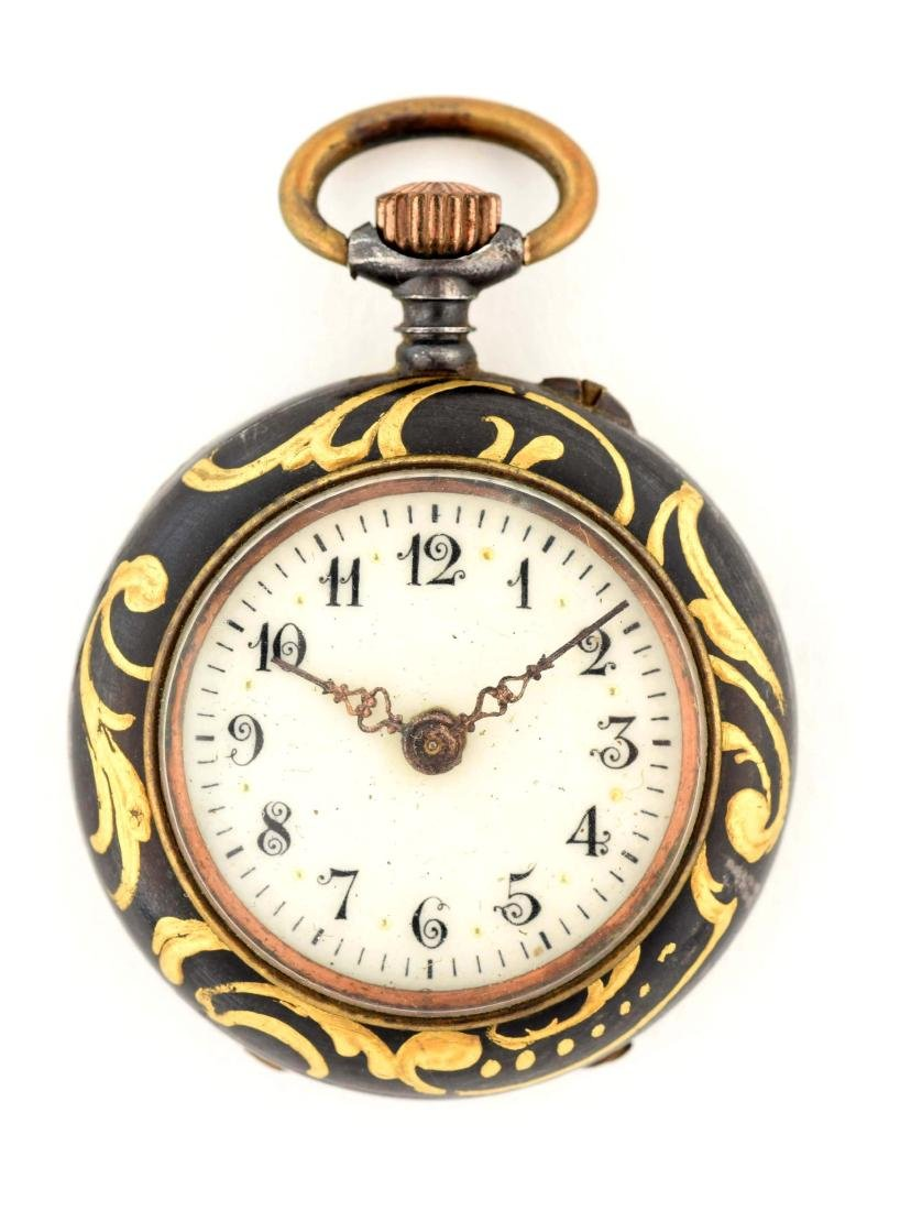 Small Black Pocket Watch.