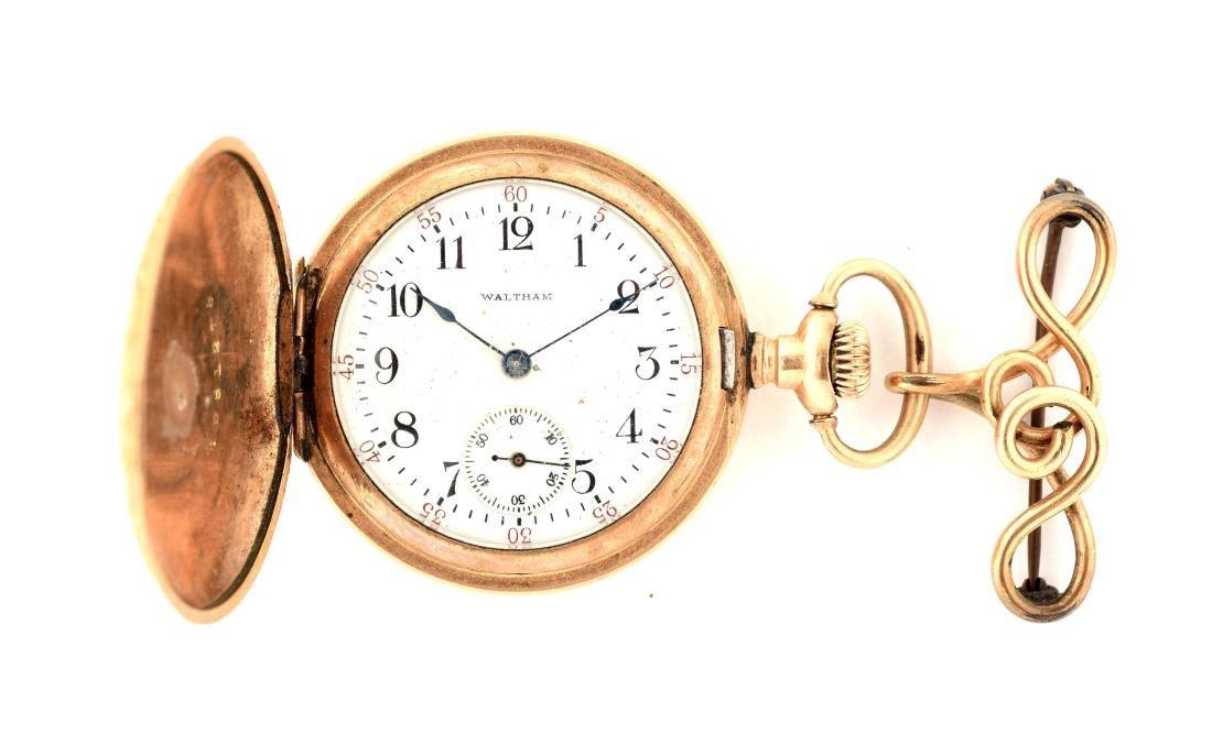 Ladies Waltham Gold Filled Pocket Watch.
