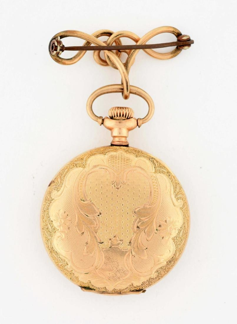 Ladies Waltham Gold Filled Pocket Watch. - 3