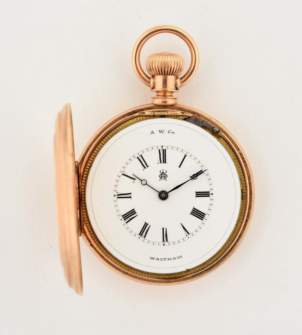 Waltham 14K Gold Open Face Pocket Watch. - 2