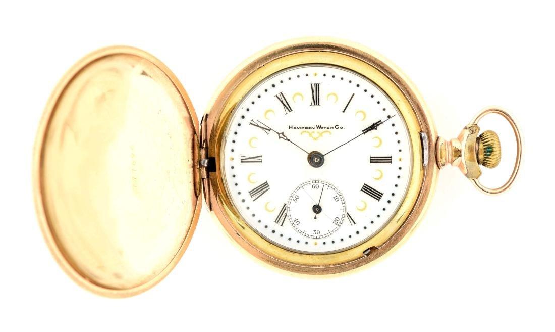 Hampden Watch Co. Gold Filled Pocket Watch.