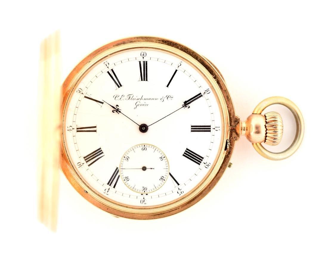 C.E. Fleischmann W/ Honey Bee Pocket Watch.