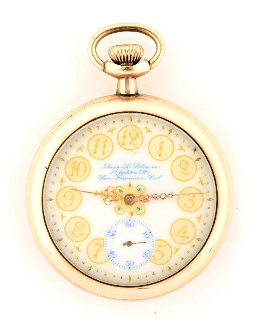 Hamilton Gold Filled Open Face Pocket Watch.
