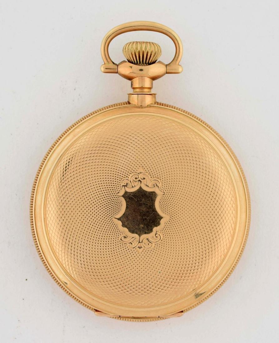 E. Howard 14K Gold H/C Pocket Watch 23j Size 16. - 3