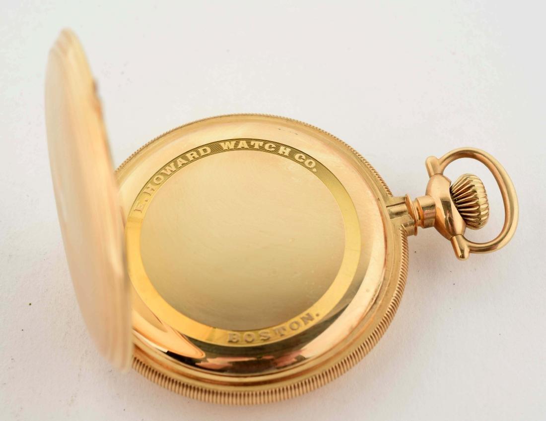 E. Howard 14K Gold H/C Pocket Watch 23j Size 16. - 4