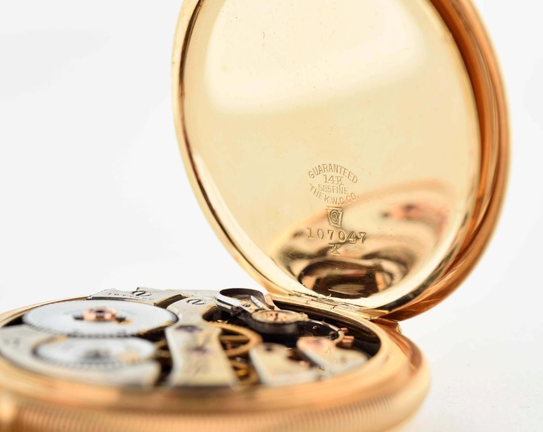 E. Howard 14K Gold H/C Pocket Watch 23j Size 16. - 5