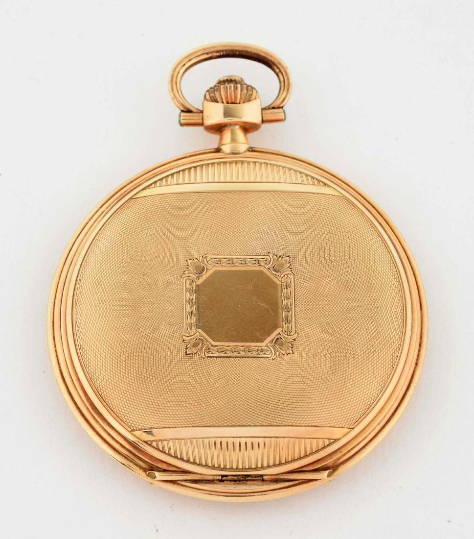 Teutonia German 14K Gold H/C Pocket Watch. - 2