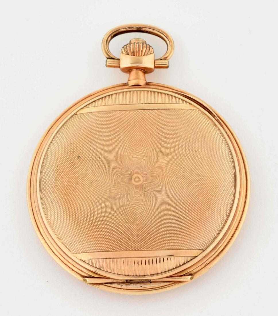Teutonia German 14K Gold H/C Pocket Watch. - 3