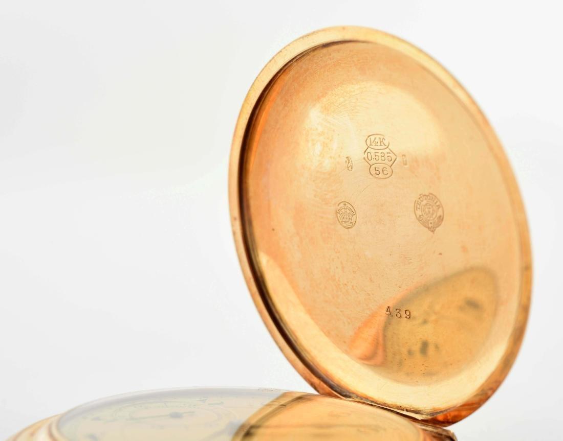 Teutonia German 14K Gold H/C Pocket Watch. - 4