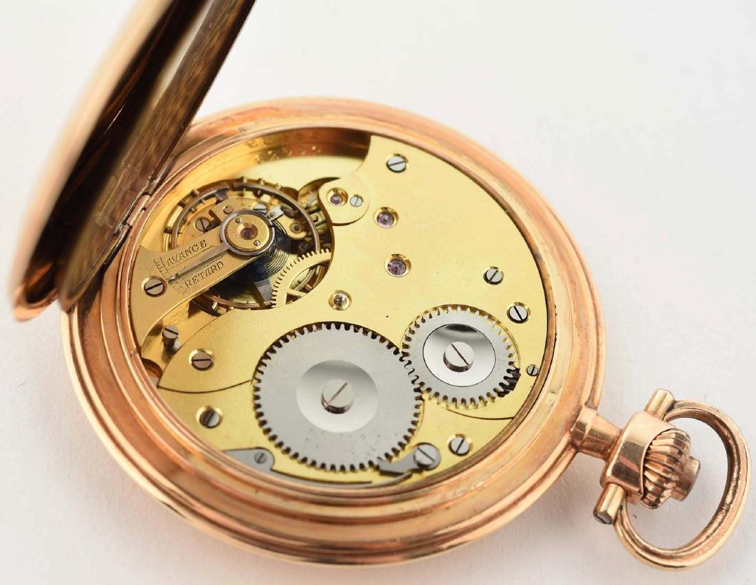 Teutonia German 14K Gold H/C Pocket Watch. - 5