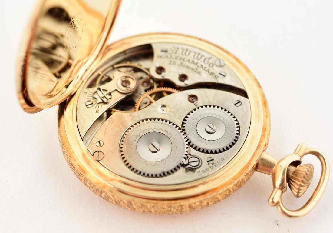 Waltham 14K Gold H/C Pocket Watch 15j Size 12. - 3