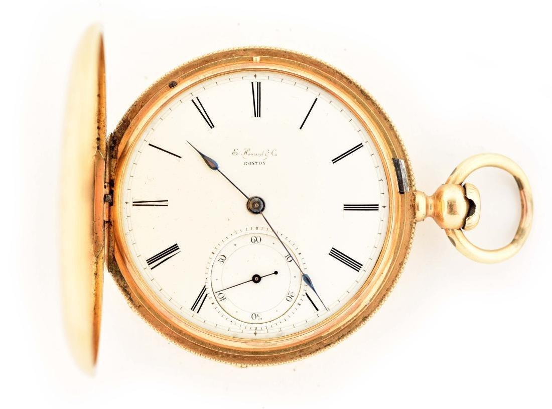 E. Howard & Co. 18K Gold Pocket Watch.
