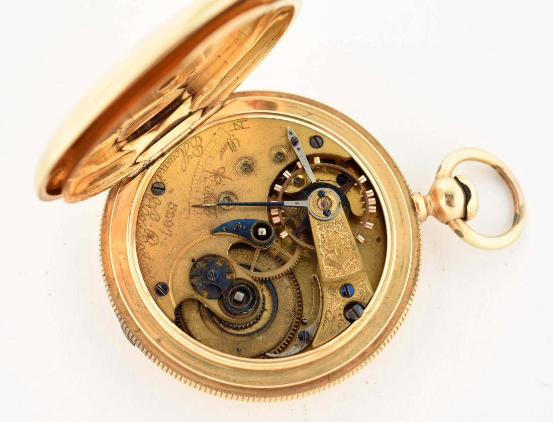 E. Howard & Co. 18K Gold Pocket Watch. - 5