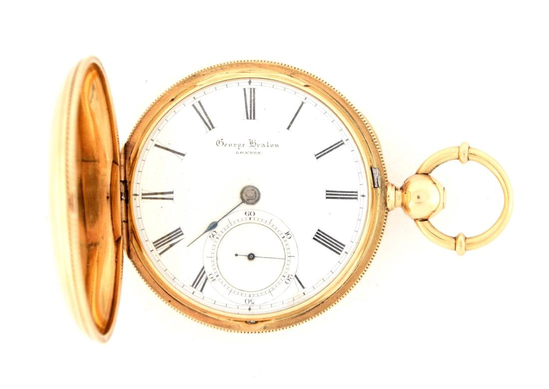 George Heaton 18K Gold Pocket Watch.