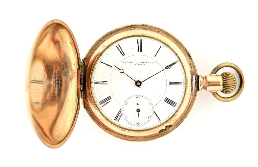 Longines for E. Jaccard Jewelry Co. 14K Gold Filled H/C