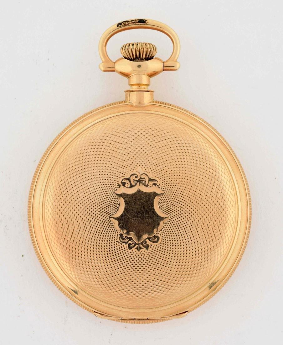 E. Howard 14K Gold H/C Pocket Watch 23j. - 3