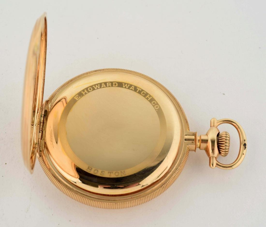 E. Howard 14K Gold H/C Pocket Watch 23j. - 4