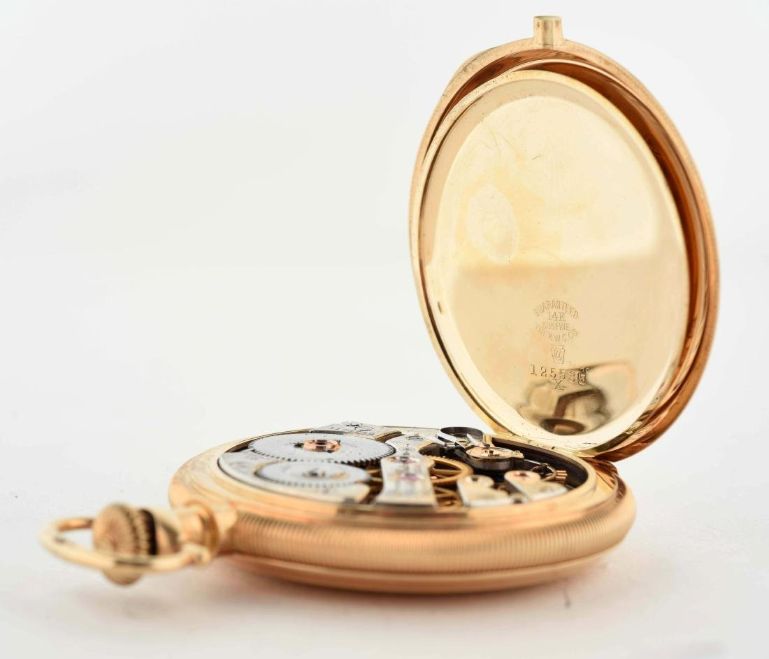 E. Howard 14K Gold H/C Pocket Watch 23j. - 5