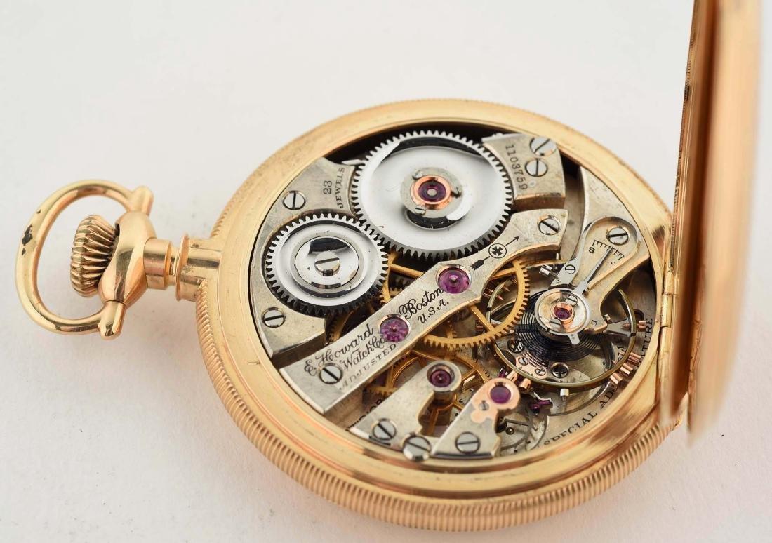 E. Howard 14K Gold H/C Pocket Watch 23j. - 6