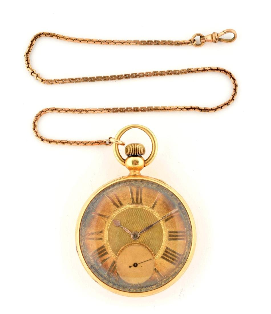 Elgin B.W. Raymond 18K Gold O/F Pocket Watch 17j Size