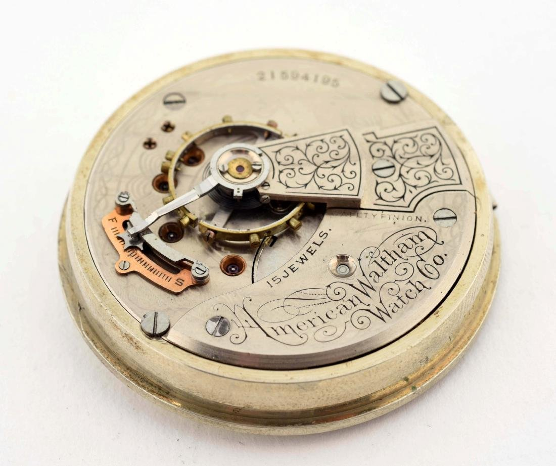 Portugese Mercantile Co. Serling Silver Pocket Watch. - 3