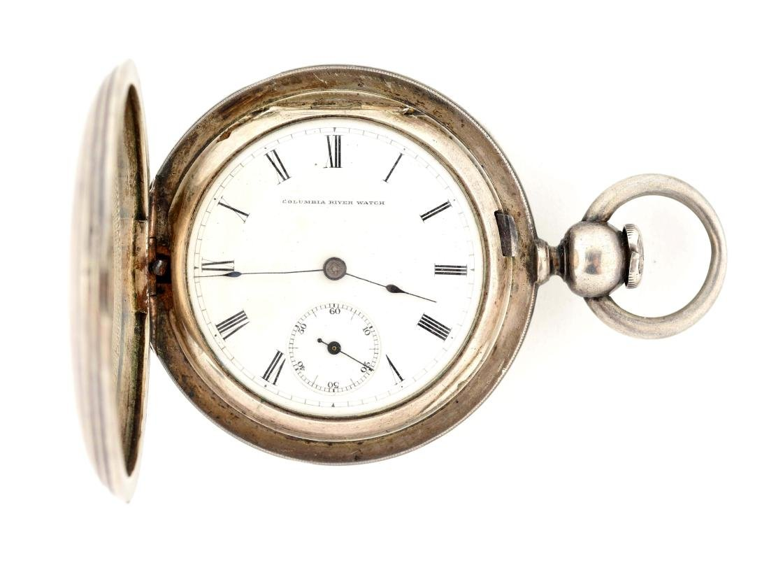 Columbia River Watch Coin Silver Pocket Watch.