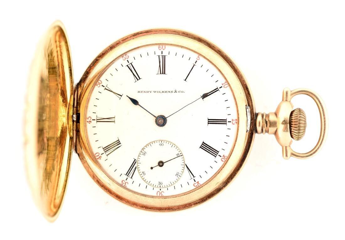 Waltham for Henry Wilkens & Co. Gold Filled H/C Pocket