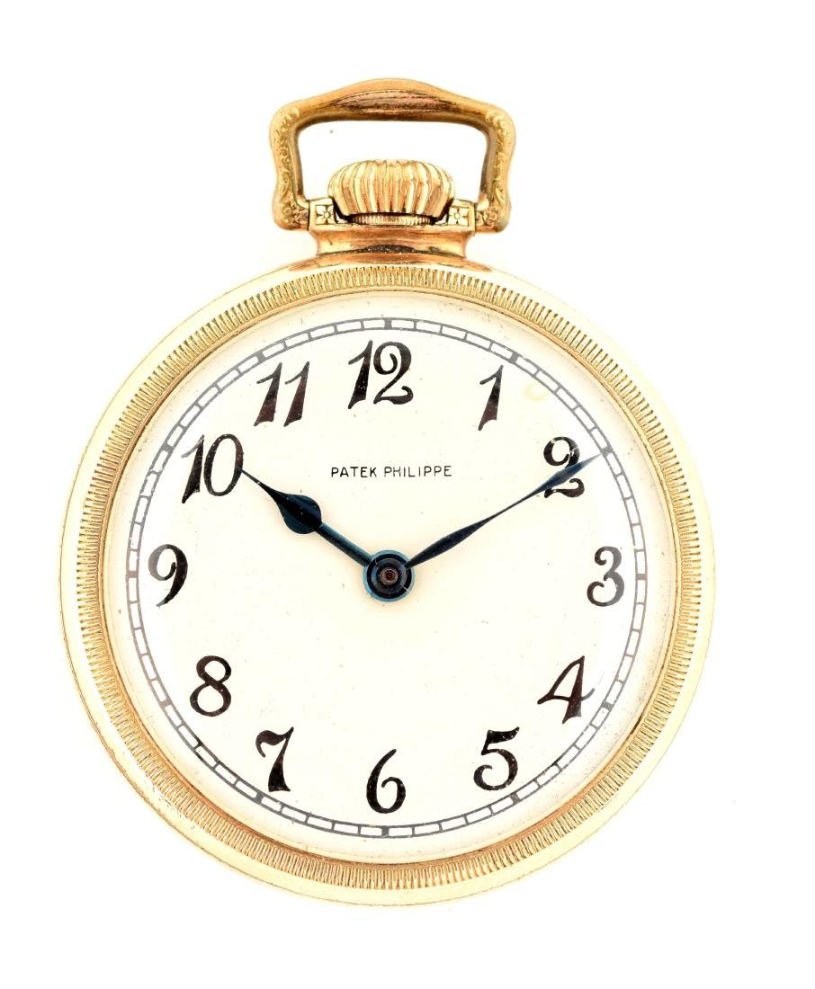 Patek Philippe Private Label GF O/F Pocket Watch.