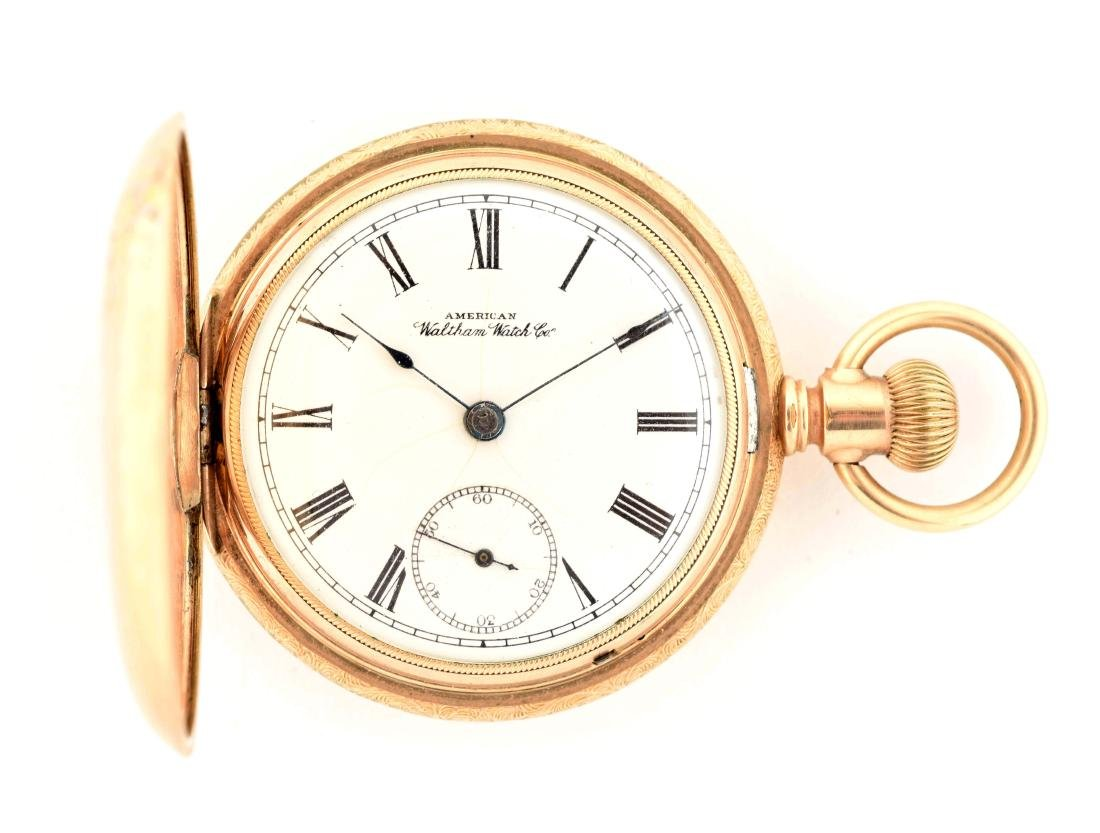 Waltham Gold Filled H/C Pocket Watch Size 18.