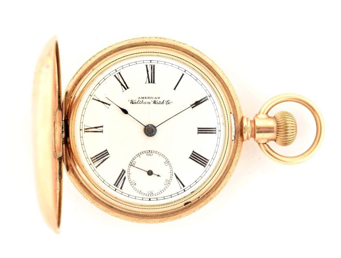 Waltham Gold Filled H/C Pocket Watch Size 18.