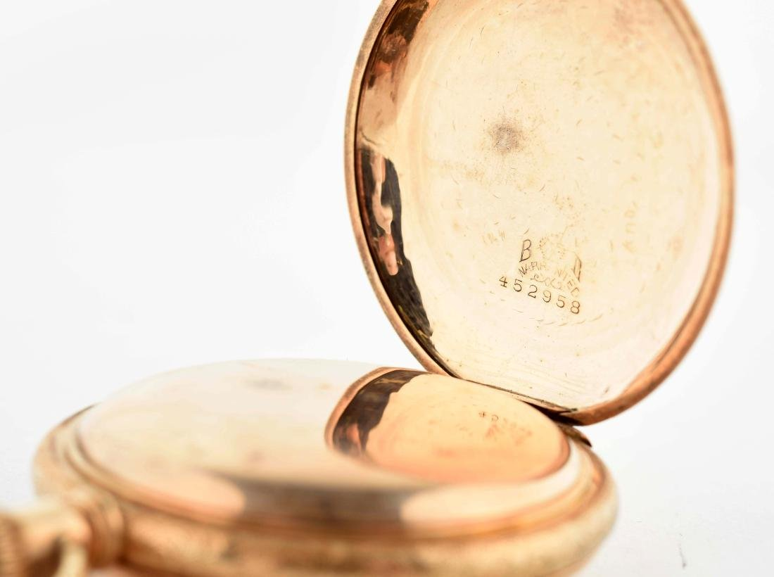 Waltham Gold Filled H/C Pocket Watch Size 18. - 4