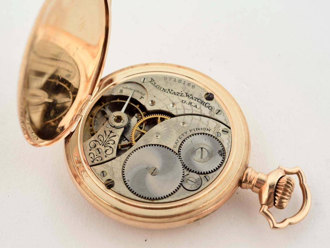 Elgin Gold Filled Pocket Watch. - 5
