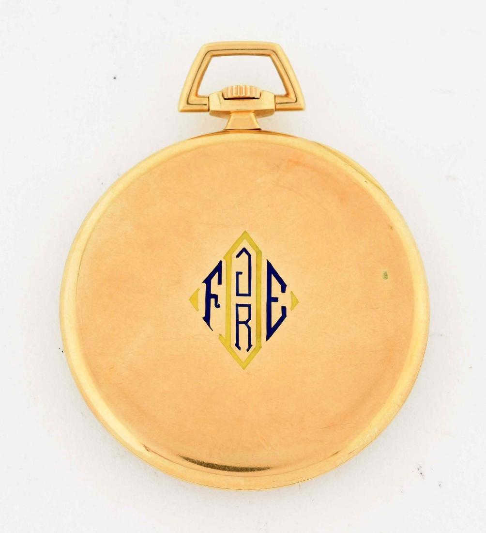 Cartier 18K Gold O/F Fine Swiss Pocket Watch 19j. - 2