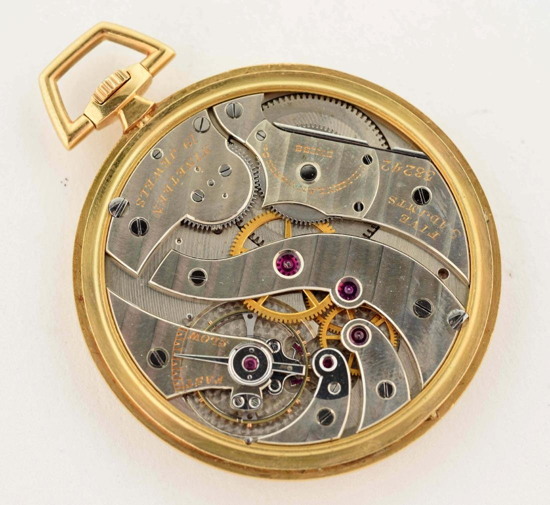 Cartier 18K Gold O/F Fine Swiss Pocket Watch 19j. - 3