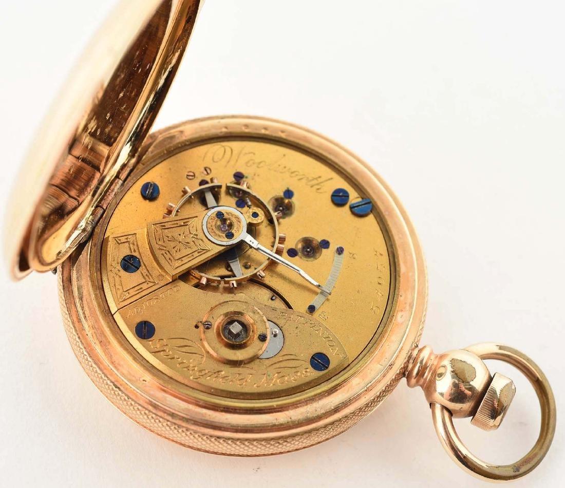 Hampden Watch Co. 14K Gold Filled H/C Pocket Watch Size - 5