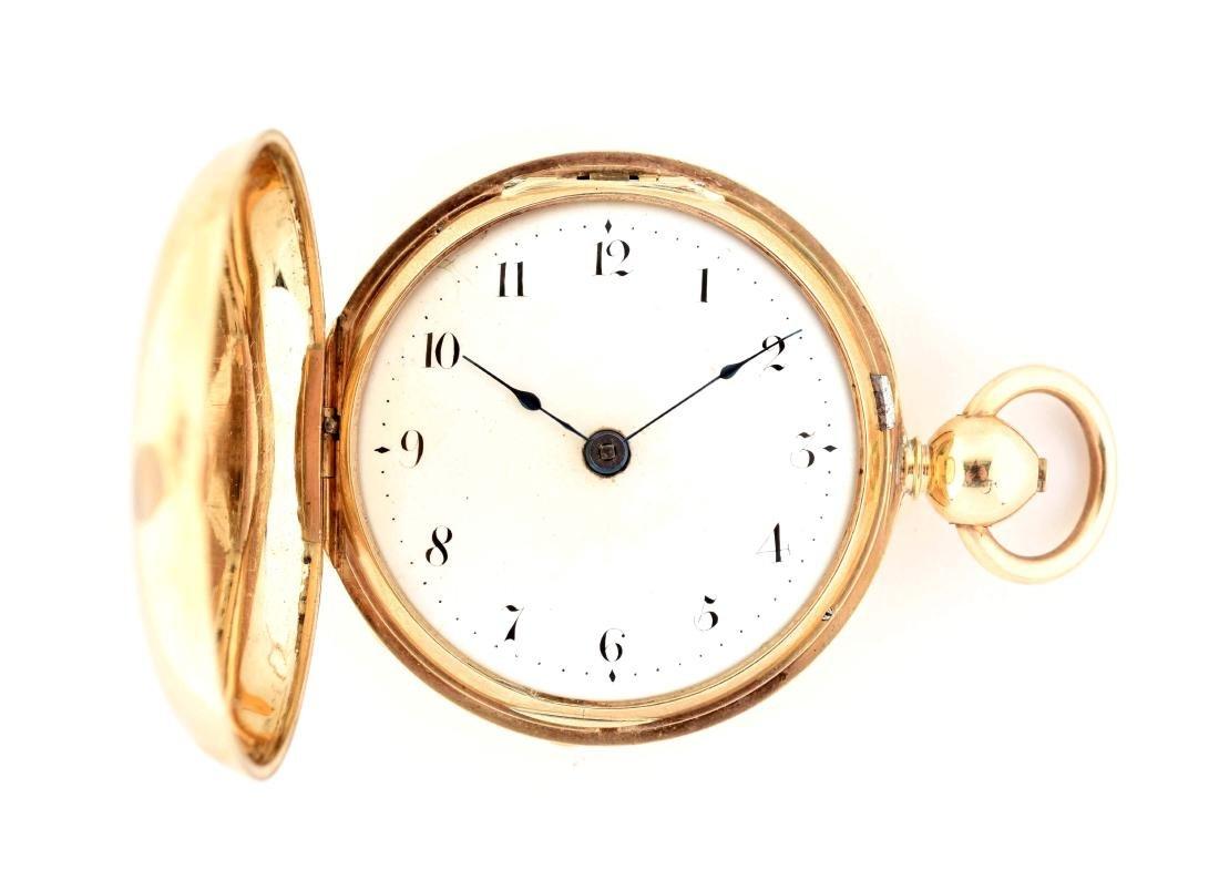 William Donaldson 18K Gold Fusee H/C Pocket Watch.