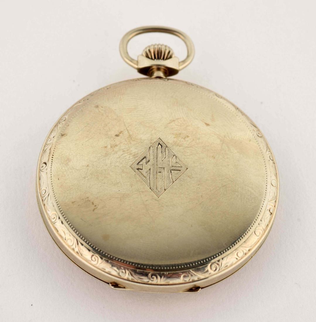 Howard 14K White Gold O/F Pocket Watch 19j. - 2