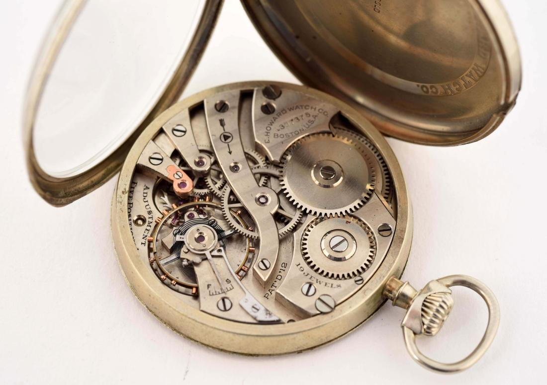 Howard 14K White Gold O/F Pocket Watch 19j. - 3