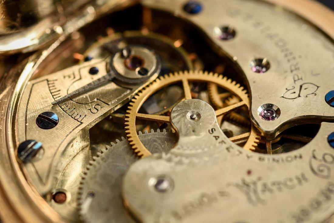 Illinois 14K Gold H/C Pocket Watch Circa 1892. - 10