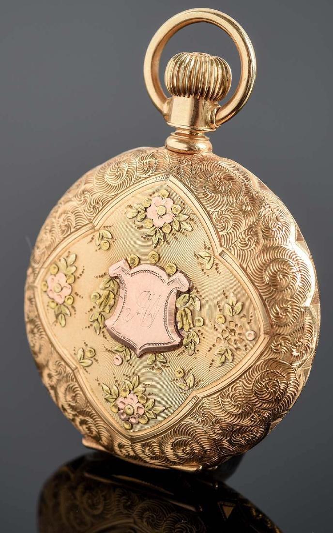 Illinois 14K Gold H/C Pocket Watch Circa 1892. - 2