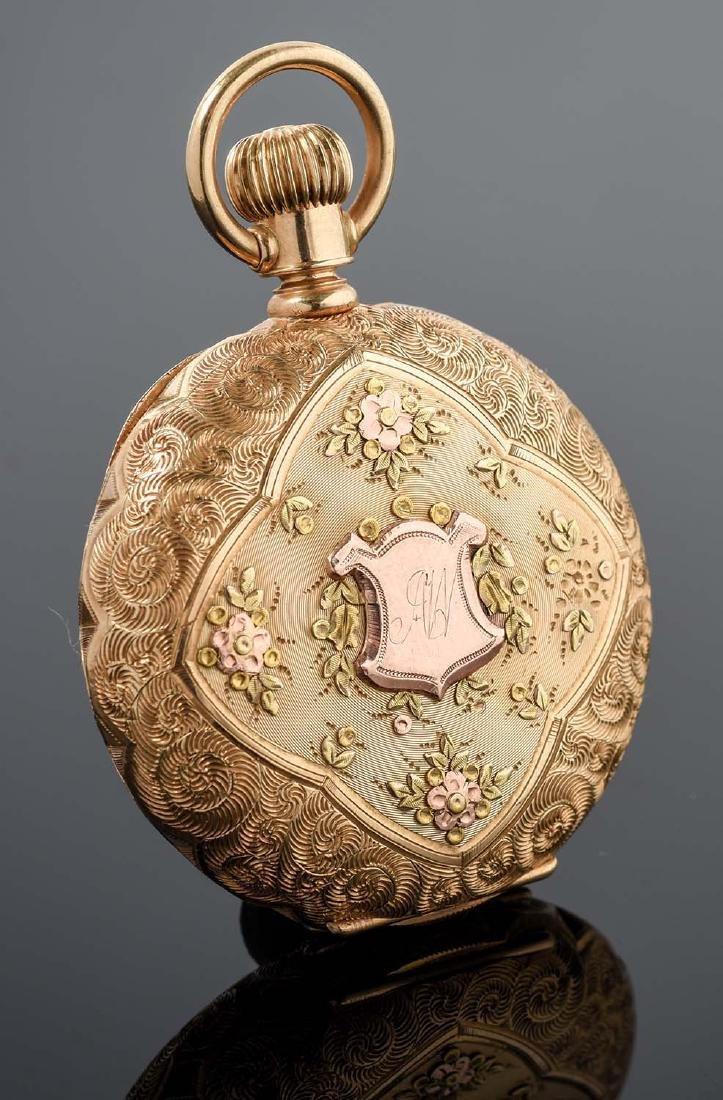 Illinois 14K Gold H/C Pocket Watch Circa 1892. - 3