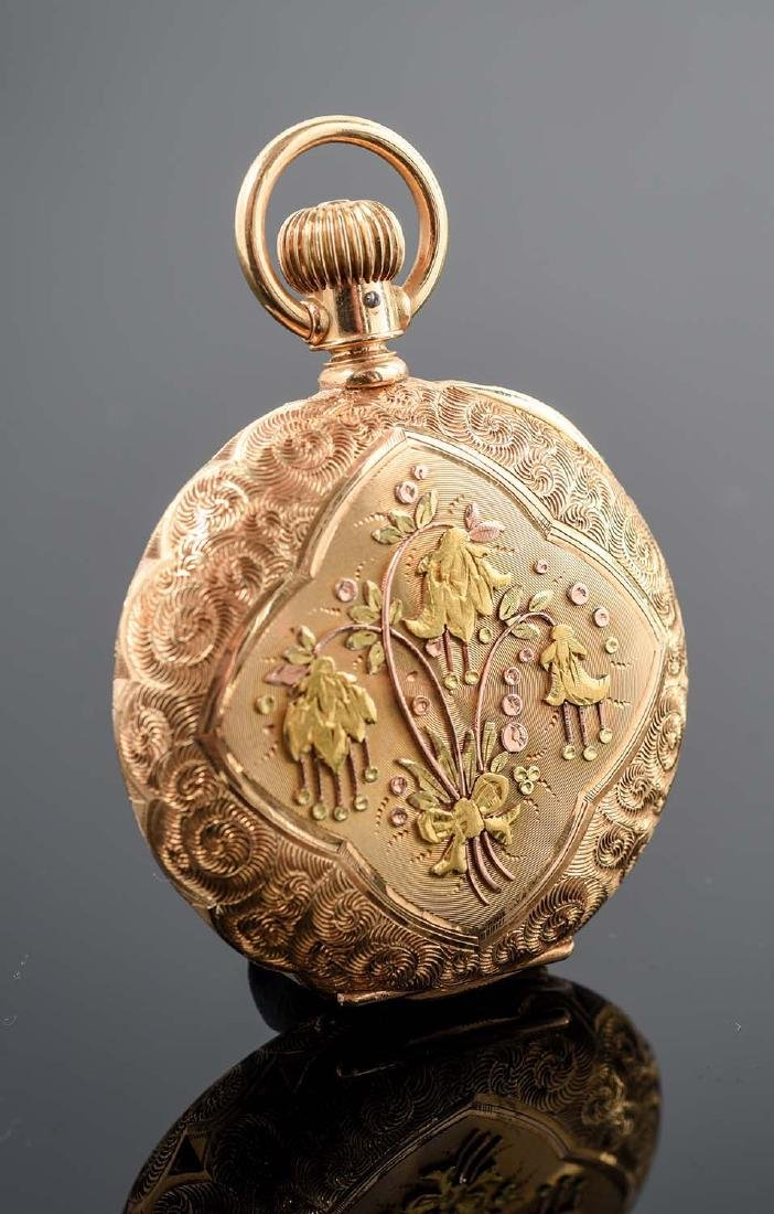 Illinois 14K Gold H/C Pocket Watch Circa 1892. - 4