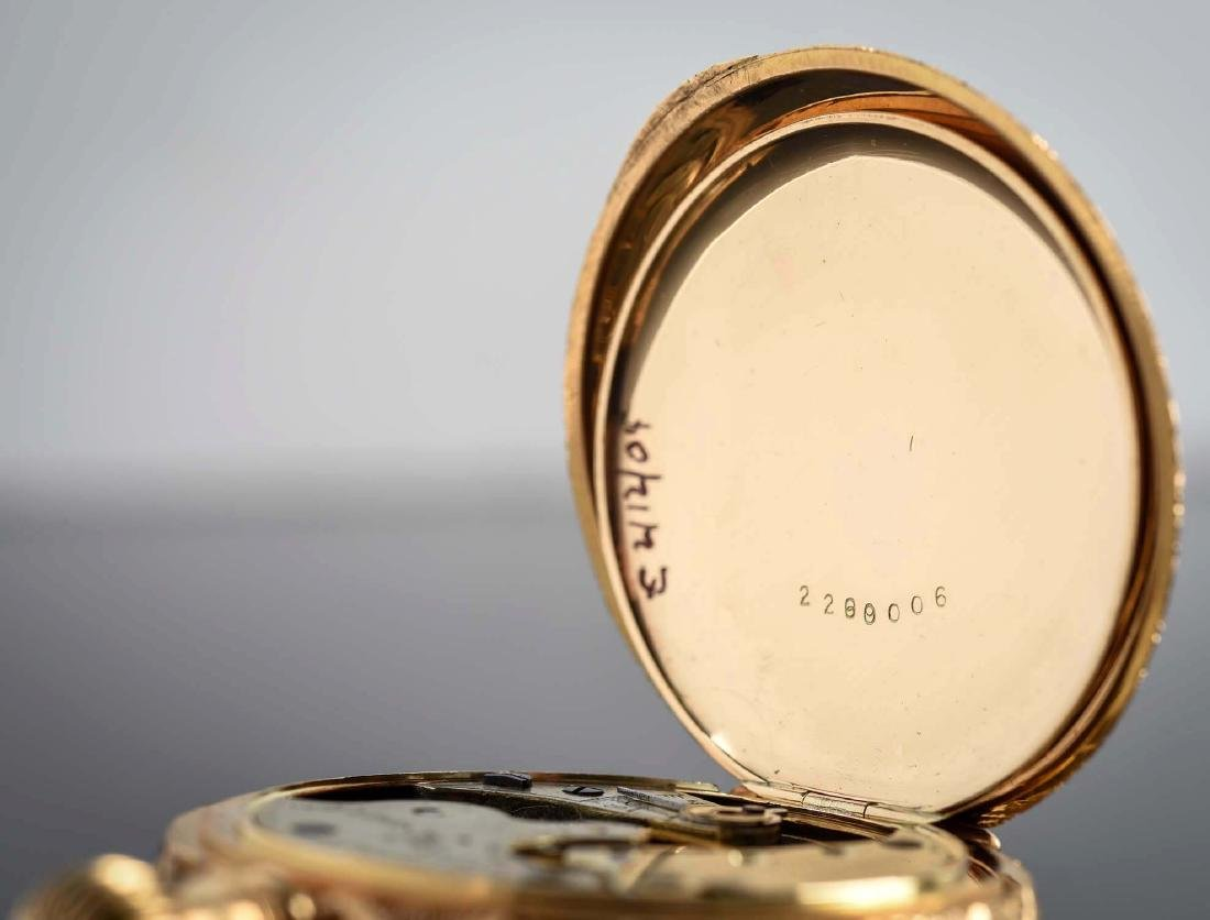 Illinois 14K Gold H/C Pocket Watch Circa 1892. - 6