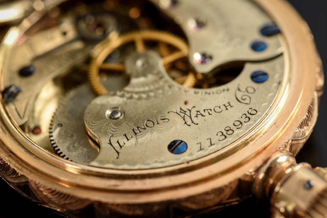 Illinois 14K Gold H/C Pocket Watch Circa 1892. - 9