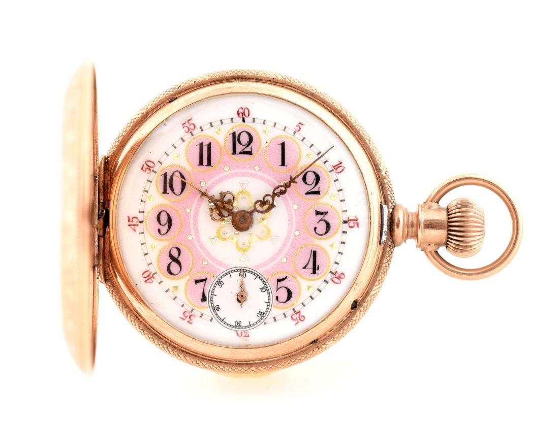 Waltham 10K Gold H/C Fancy Pocket Watch