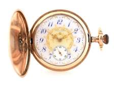 Waltham Gold Filled H/C Pocket Watch W/Birds.