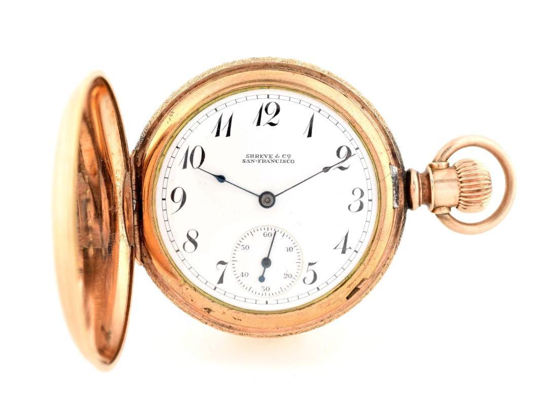 Elgin Gold Filled Sherve & Co H/C Pocket Watch