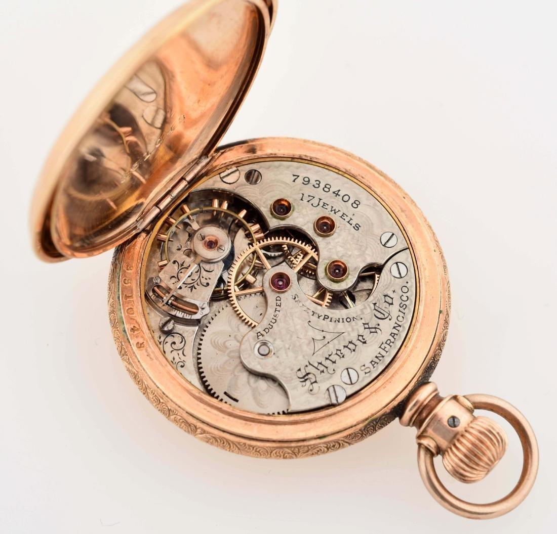 Elgin Gold Filled Sherve & Co H/C Pocket Watch - 4