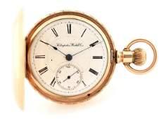 Hampden 14K Gold Filled H/C Pocket Watch Size 18.