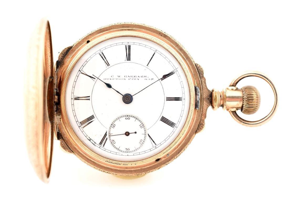 Rockford Gold Filled H/C Pocket Watch Size 18.